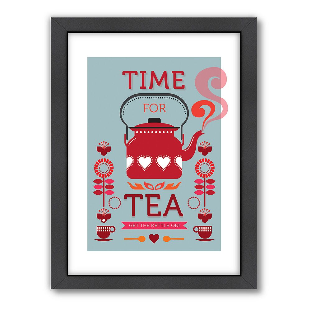 Americanflat Visual Philosophy ''Time for Tea'' Framed Wall Art
