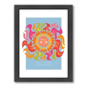 Americanflat Visual Philosophy ''Sunshine Day'' Framed Wall Art
