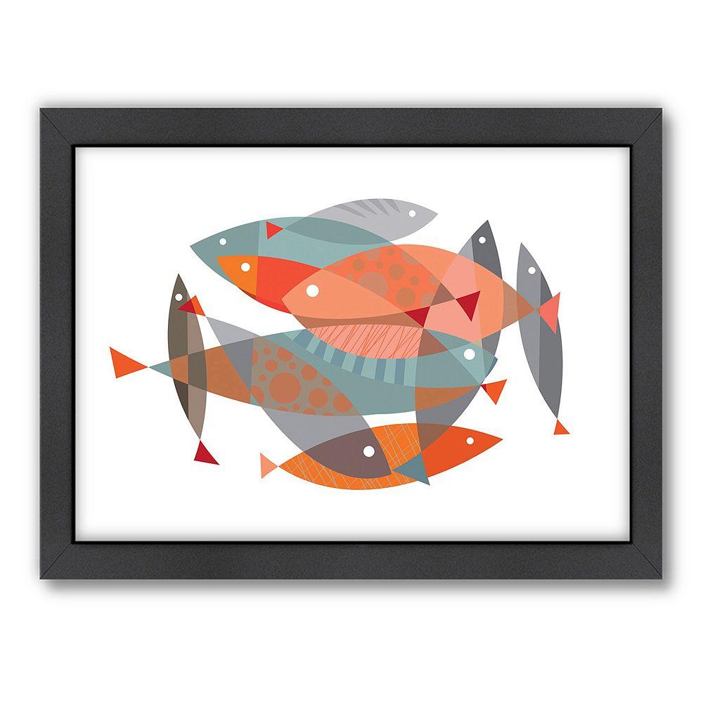 Americanflat Visual Philosophy ''Fishy Dishy'' Framed Wall Art