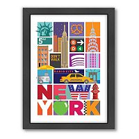 Americanflat Visual Philosophy ''New York'' Framed Wall Art
