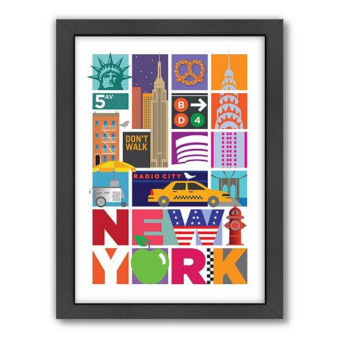 Americanflat Visual Philosophy ''New York'' Framed Wall Art