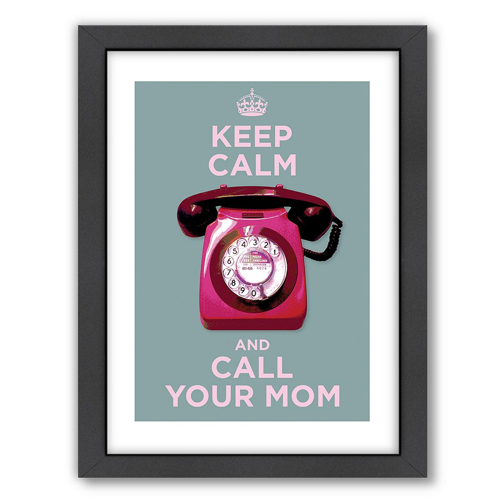 Americanflat Visual Philosophy ''Call Your Mom'' Framed Wall Art
