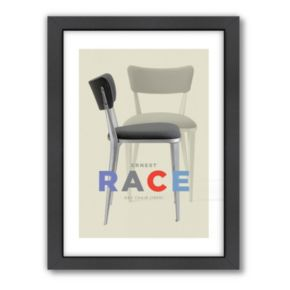 Americanflat Visual Philosophy ''Ernest Race Chair'' Framed Wall Art