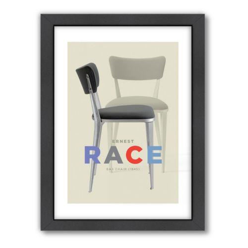 Americanflat Visual Philosophy ''Ernest Race Chair'' Framed Wall Art