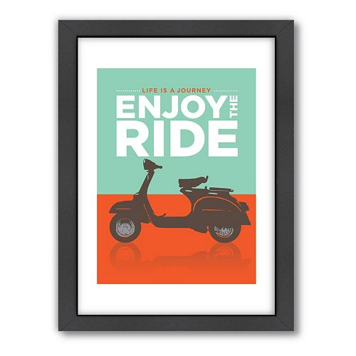 Americanflat Visual Philosophy ''Enjoy the Ride'' Framed Wall Art