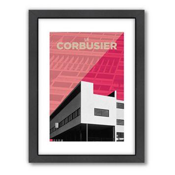 Americanflat Visual Philosophy ''Corbusier'' Framed Wall Art