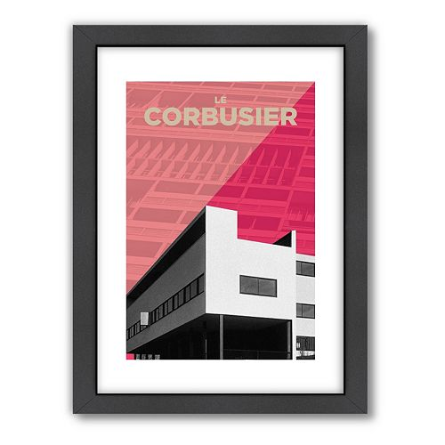 Americanflat Visual Philosophy ''Corbusier'' Framed Wall Art