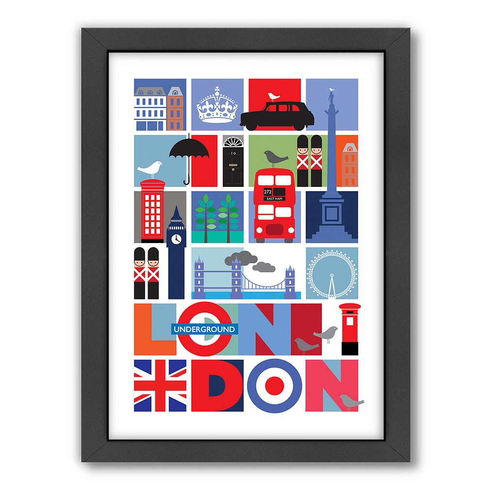Americanflat Visual Philosophy ''London'' Framed Wall Art