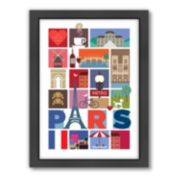 Americanflat Visual Philosophy ''Paris'' Framed Wall Art