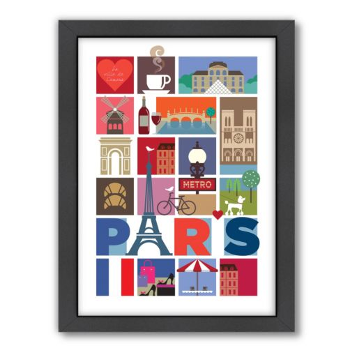 Americanflat Visual Philosophy ''Paris'' Framed Wall Art