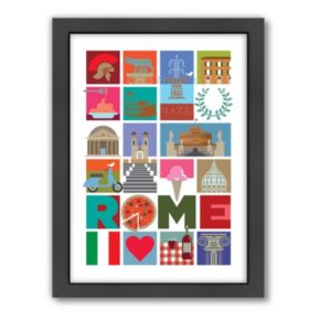 Americanflat Visual Philosophy ''Rome'' Framed Wall Art