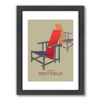 Americanflat Visual Philosophy Rietveld Framed Wall Art