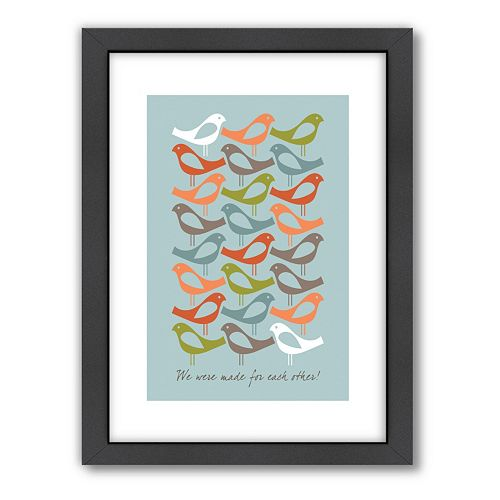 Americanflat Visual Philosophy ''Made for Each Other'' Framed Wall Art