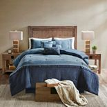 Madison Park Westbrook 7 Piece Faux Suede Comforter Set