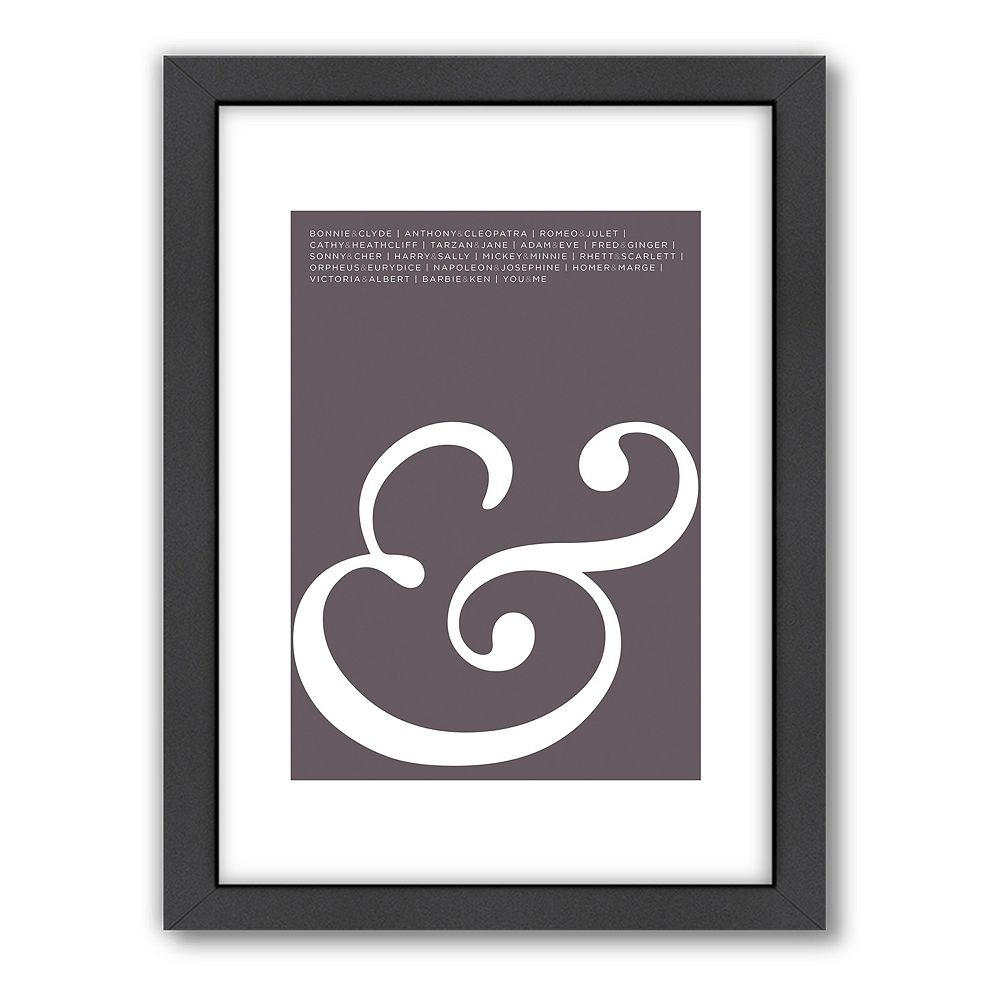 Americanflat Visual Philosophy ''Ampersand'' Framed Wall Art