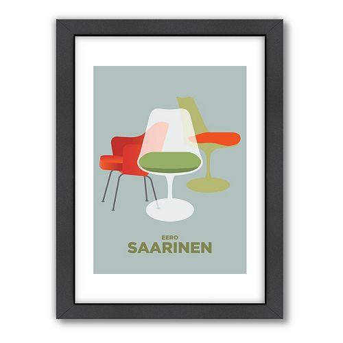 Americanflat Visual Philosophy ''Saarinen'' Framed Wall Art