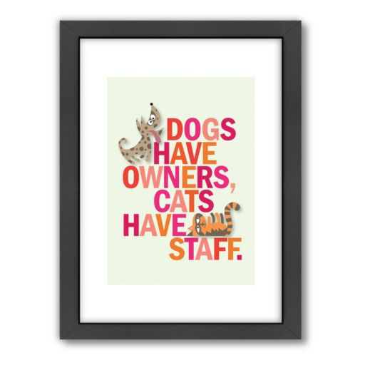 Americanflat Visual Philosophy ''Cats Have Staff'' Framed Wall Art