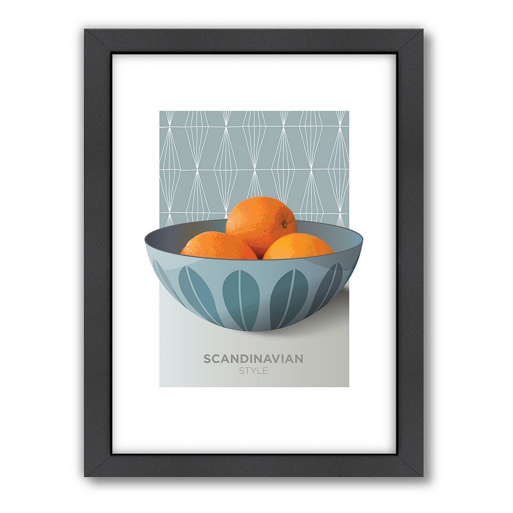 Americanflat Visual Philosophy Cathrineholm Oranges Framed Wall Art