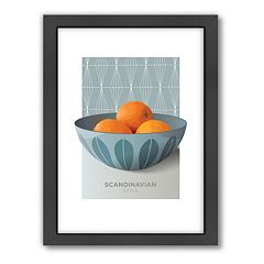 Americanflat Visual Philosophy Cathrineholm Oranges Framed Wall Art