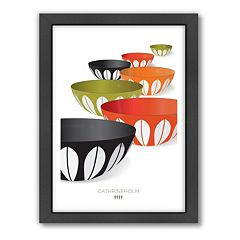 Americanflat Visual Philosophy Cathrineholm Infinity Bowls Framed Wall Art