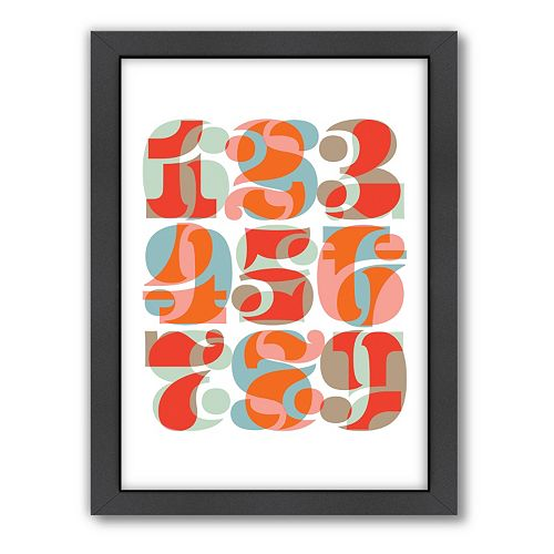 Americanflat Visual Philosophy Numbers Framed Wall Art