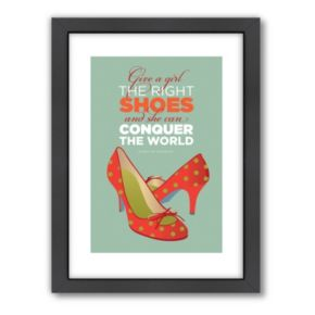 Americanflat Visual Philosophy ''Right Shoes'' Framed Wall Art