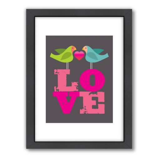 Americanflat Visual Philosophy ''Love'' Framed Wall Art