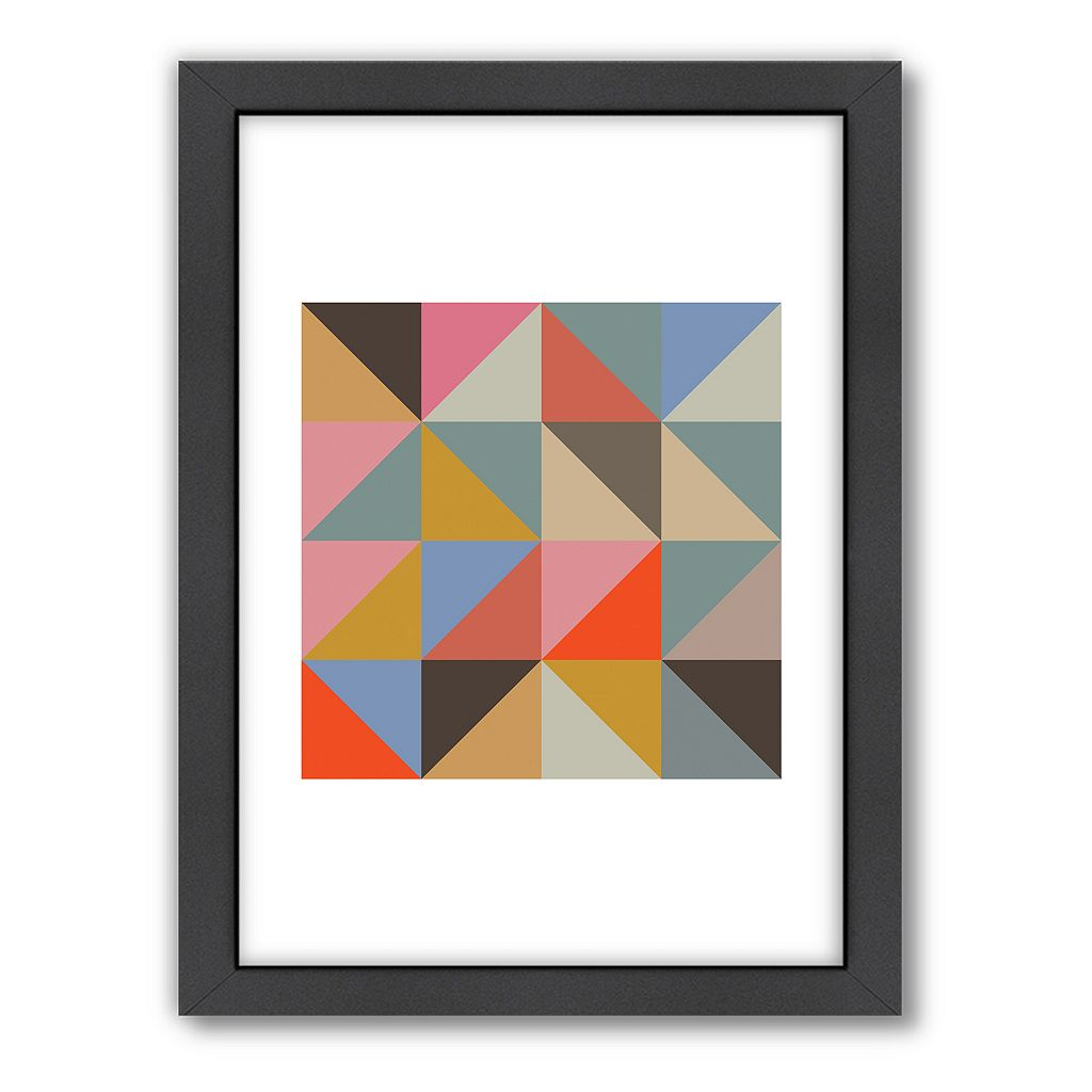 Americanflat Visual Philosophy 2 Geometric Framed Wall Art