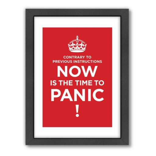 Americanflat Visual Philosophy ''Time to Panic'' Framed Wall Art