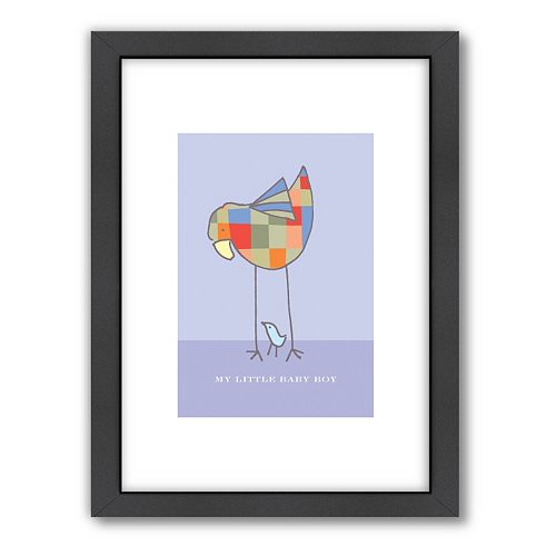 Americanflat Visual Philosophy ''Baby Boy'' Framed Wall Art