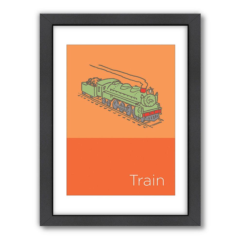 Americanflat Visual Philosophy Train Framed Wall Art