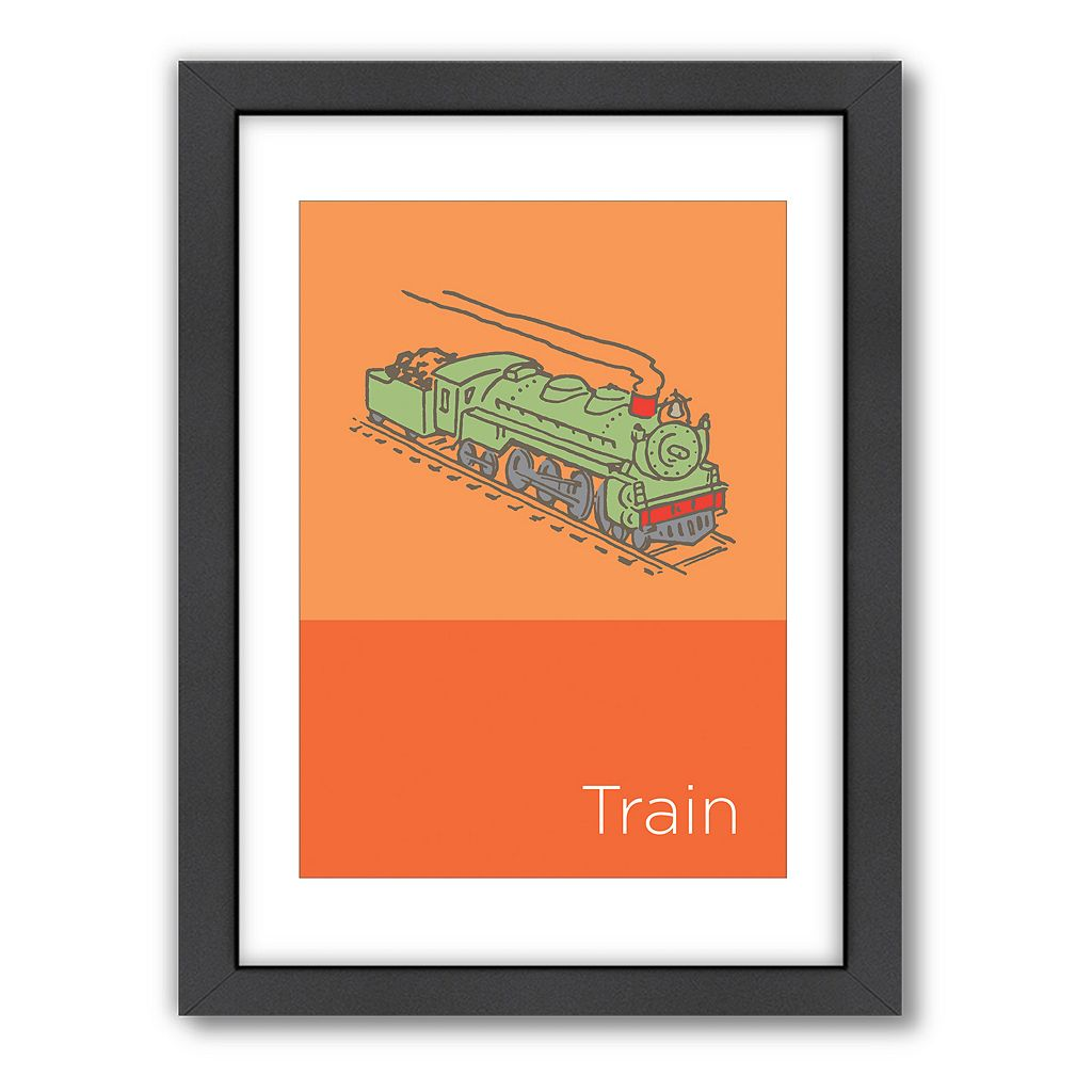 Americanflat Visual Philosophy Train Framed Wall Art