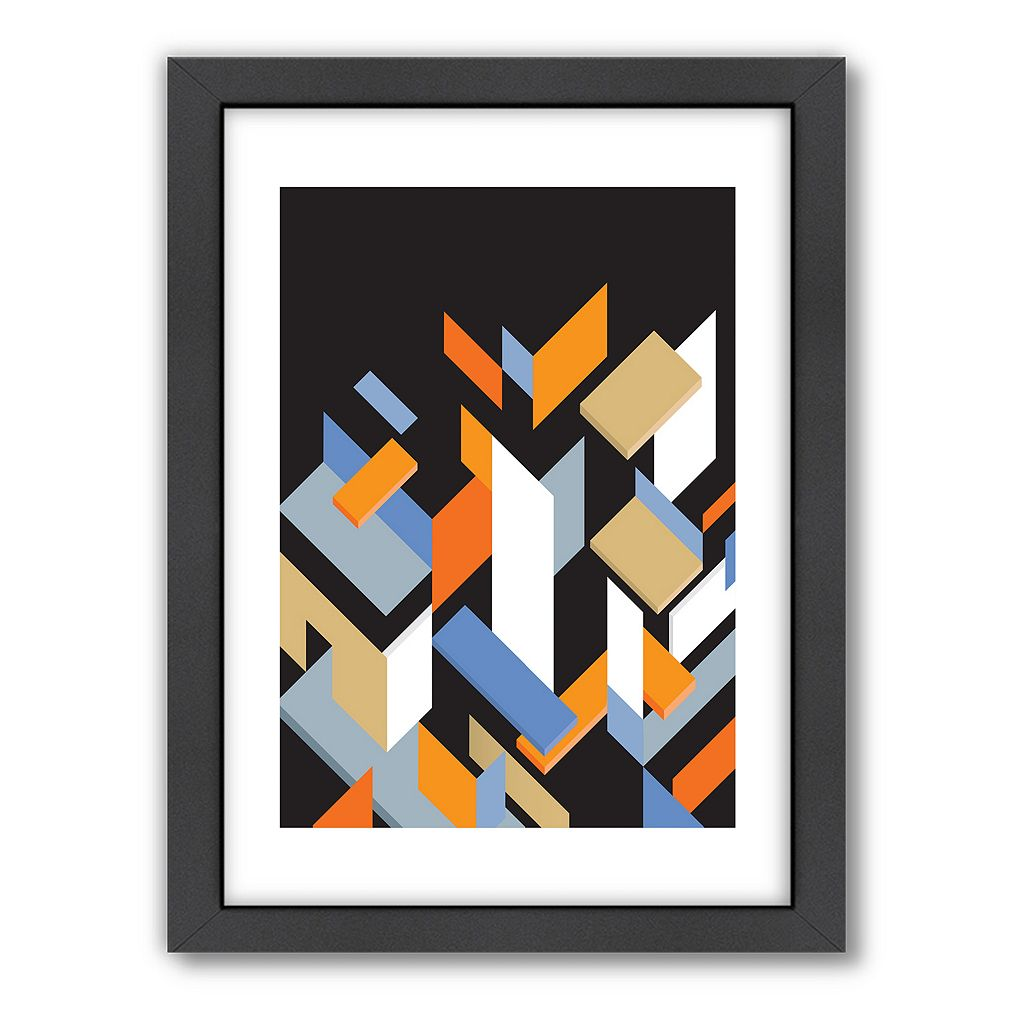 Americanflat Visual Philosophy Mies Pieces Geometric Framed Wall Art