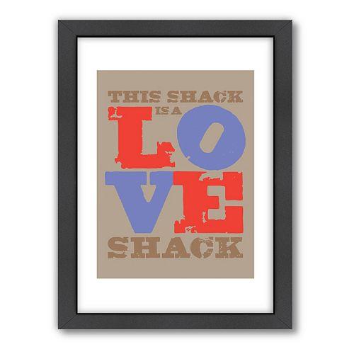 Americanflat Visual Philosophy ''Love Shack'' Framed Wall Art