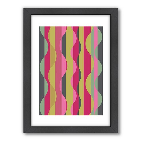 Americanflat Visual Philosophy Wave Framed Wall Art