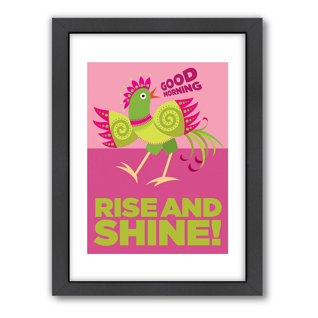 Americanflat Visual Philosophy ''Rise and Shine'' Framed Wall Art