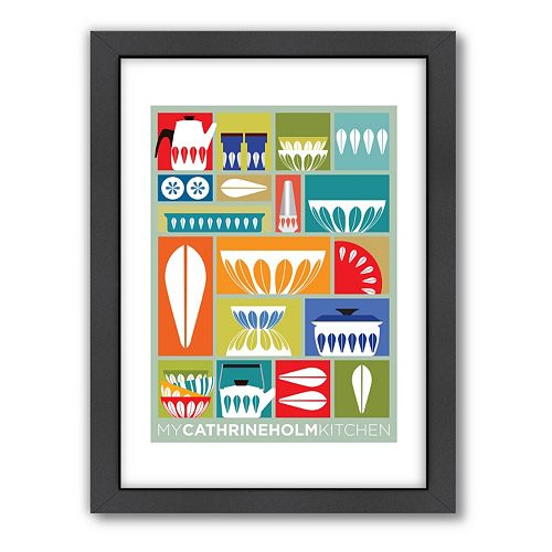 Americanflat Visual Philosophy ''My Cathrineholm Kitchen'' Framed Wall Art