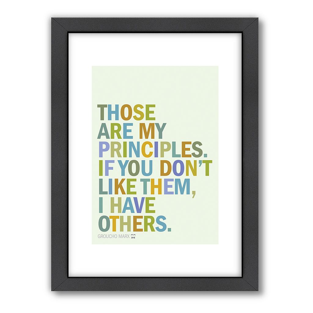 Americanflat Visual Philosophy ''Principles'' Framed Wall Art