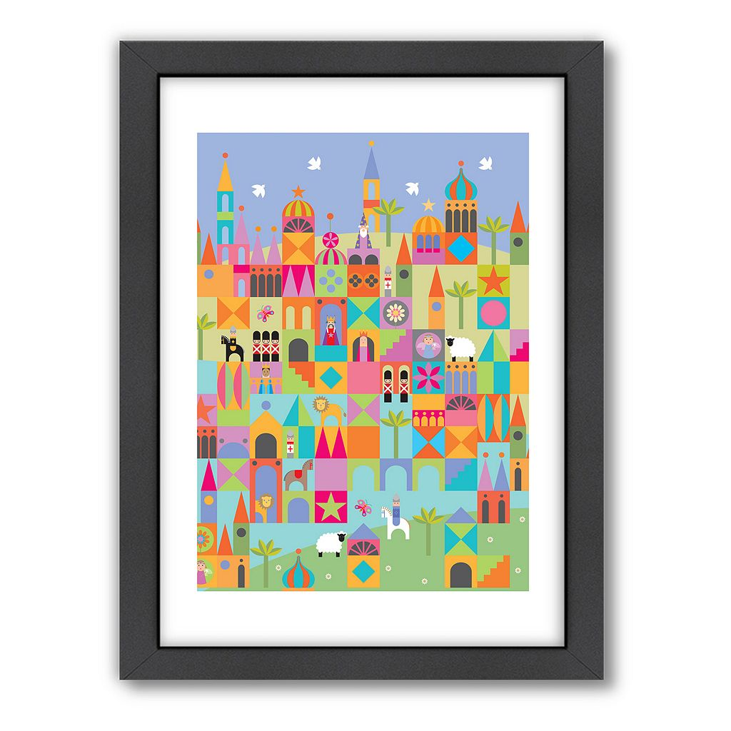 Americanflat Visual Philosophy Toytown Framed Wall Art