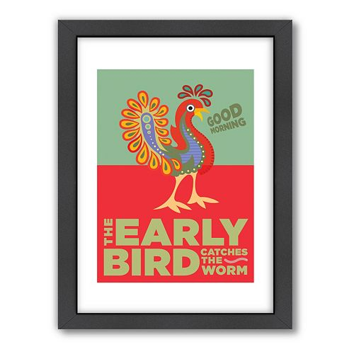 Americanflat Visual Philosophy ''Early Bird'' Framed Wall Art