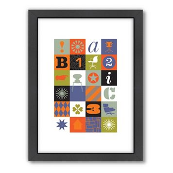 Americanflat Visual Philosophy Mid-Century Medley Framed Wall Art
