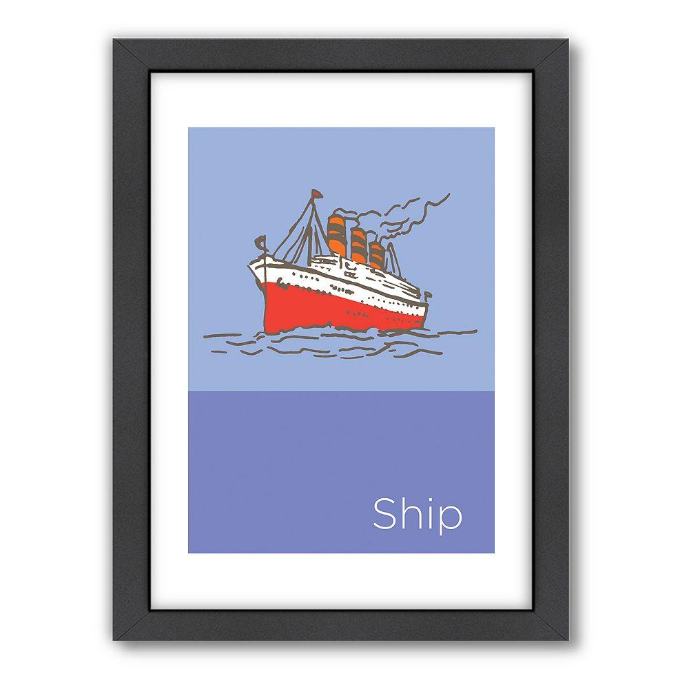 "Americanflat Visual Philosophy ""Storybook Ship"" Framed Wall Art"