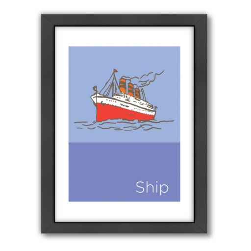 "Americanflat Visual Philosophy ""Storybook Ship"" Framed Wall Art"