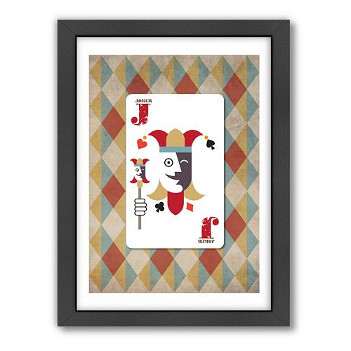 "Americanflat Visual Philosophy ""Joker"" Framed Wall Art"