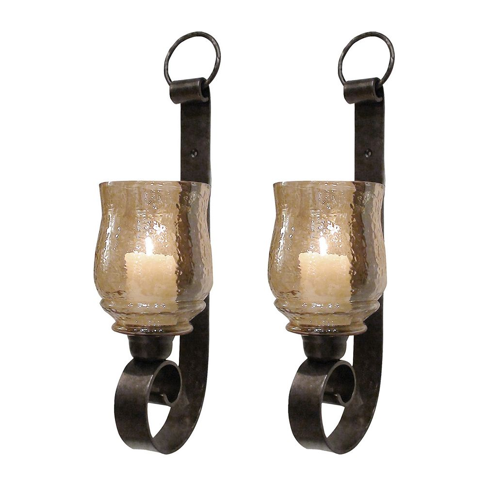 Uttermost Joselyn 2-piece Candle Wall Sconce Set
