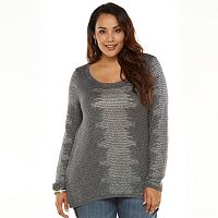 Plus Size Rock & Republic® Lurex Tunic Sweater