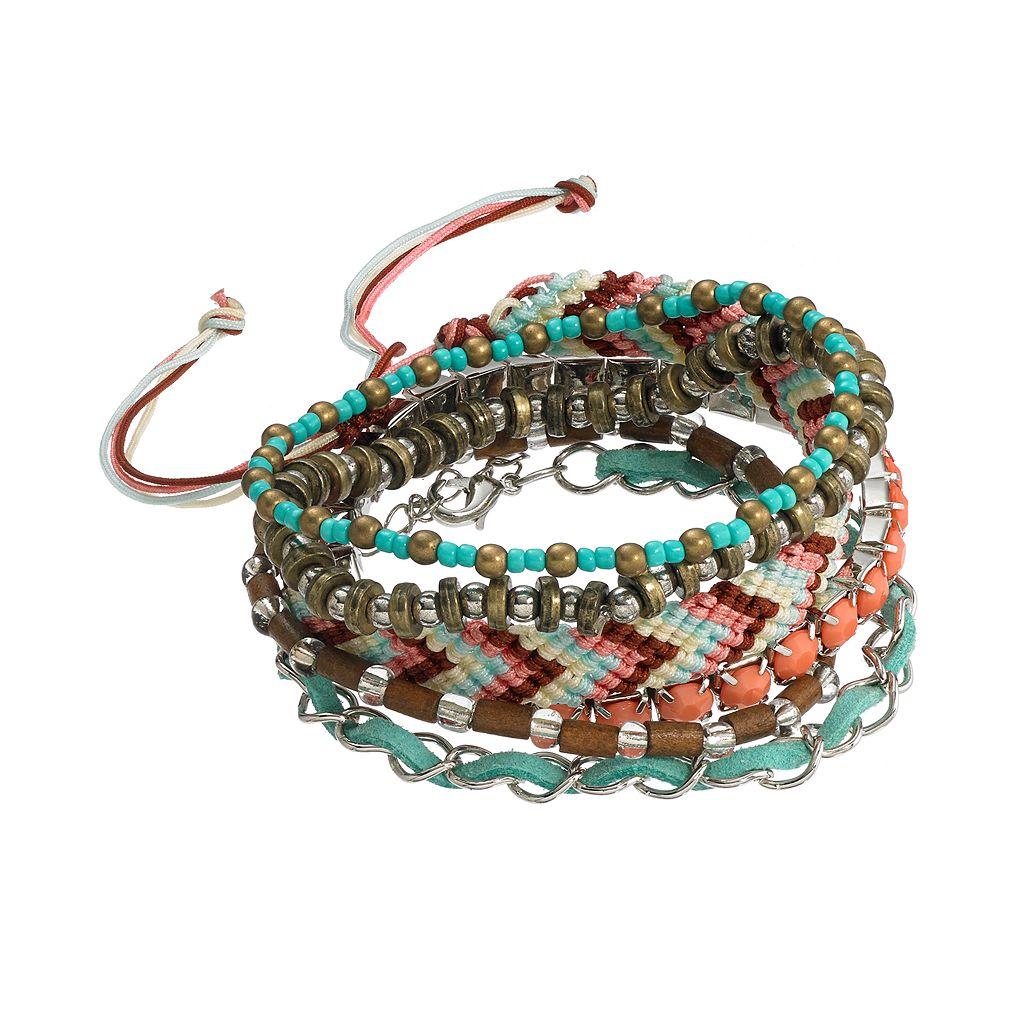 Mudd® Beaded Stretch & Woven Bracelet Set