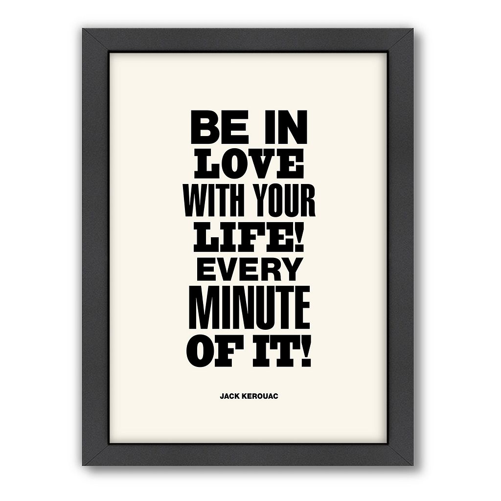 Americanflat Motivated Type ''Be in Love'' Framed Wall Art