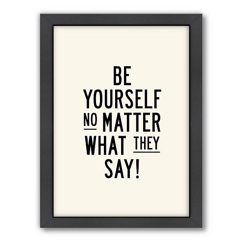 Americanflat Motivated Type ''Be Yourself'' Framed Wall Art
