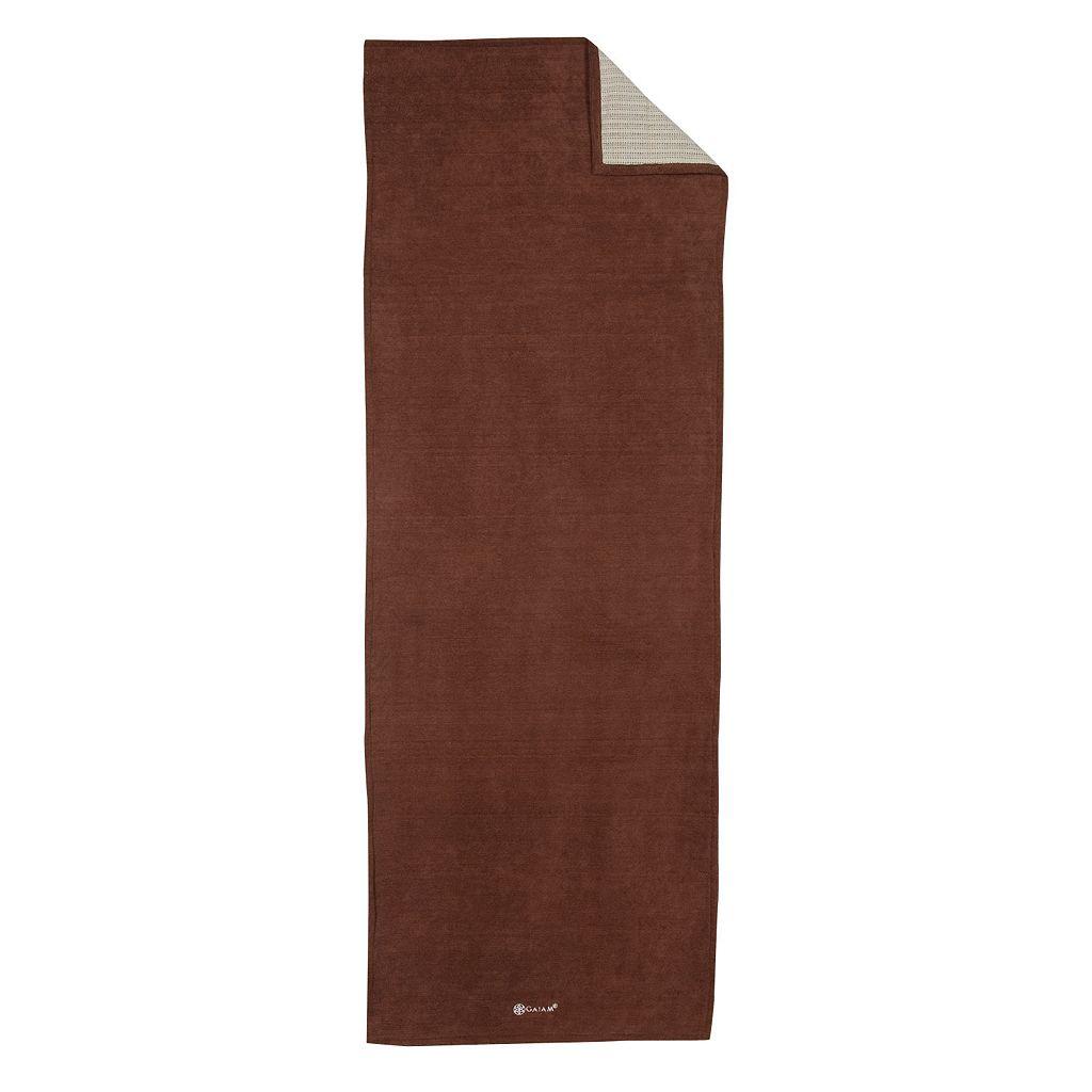 Gaiam Brown Grippy Yoga Mat Towel